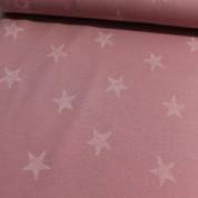 Sudadera perchada old pink estrellas