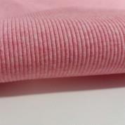 Punto acanalado rosa jaspeado