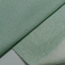 Punto acanalado verde mint jaspeado