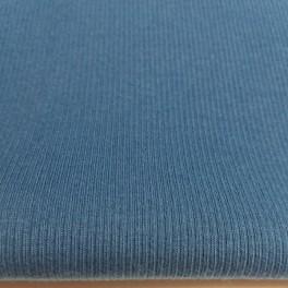 Punto acanalado COTON azul petroleo
