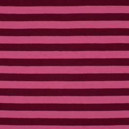 Punto rayas rosa-burdeos 1cm