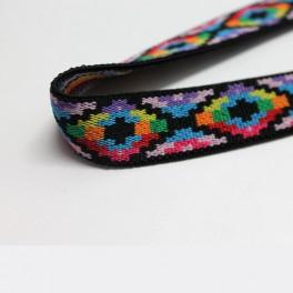 Goma estampada púrpura 22mm