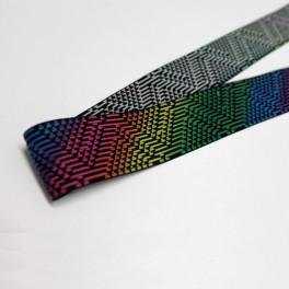 Goma estampada multicolor 40mm