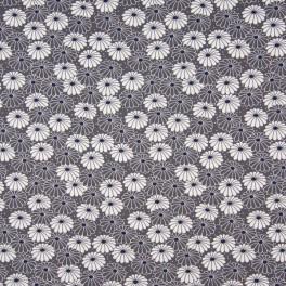 Punto flores gris
