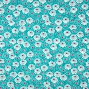 Punto flores turquesa