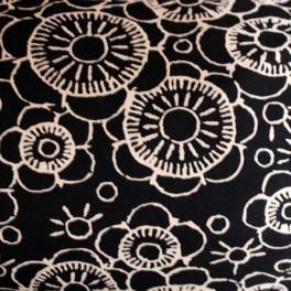 Sudadera no perxada black flower