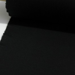 Punto acanalado negro