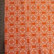 Tejido para baño motivos naranja