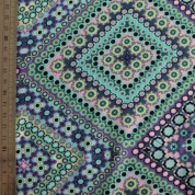 Tejido para baño etnik lila turquesa