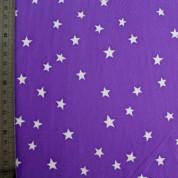Tejido para baño estrella blanca en lila