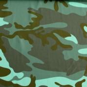 Tejido para baño camuflaje kaki verde