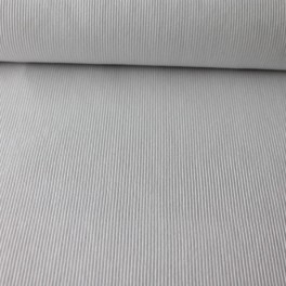Punto acanalado COTON blanco