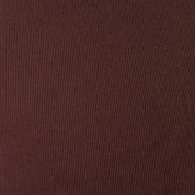 Punto acanalado COTON marrón chocolate