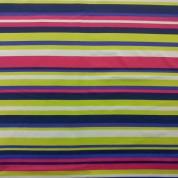 Tejido para baño stripe fucsia-lima-violeta