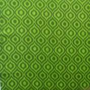 Tejido para baño gotas verdes