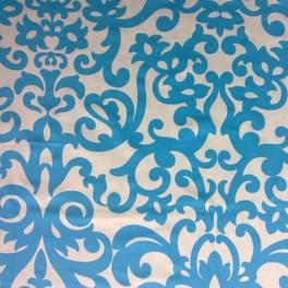 Tejido para baño medieval azul