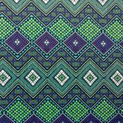Tejido para baño mosaico verde-violeta