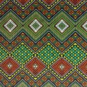 Tejido para baño mosaico rojo-verde