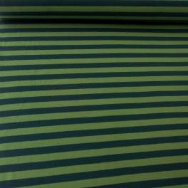 Punto rayas verde-botella
