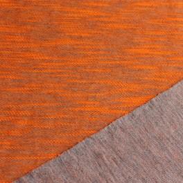 Sudadera doble cara gris-naranja